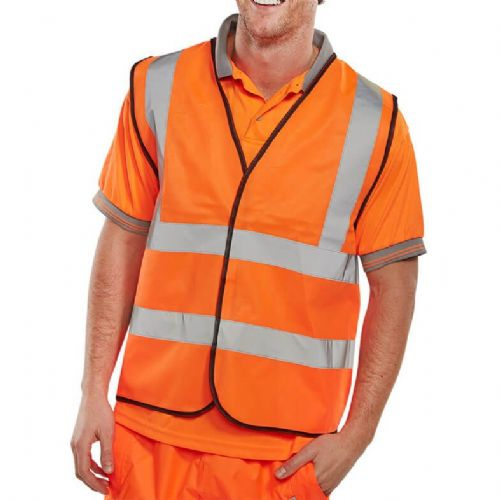BSeen Orange Hi Vis Vest